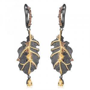 Monstera Leaves Drop Earrings