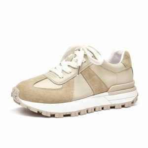 Suede Leather Patchwork Sneaker