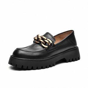 Cow Leather Platform Shoes