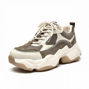 Synthetic Leather Chunky Sneaker