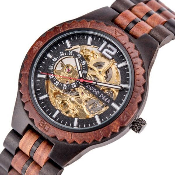 Wooden Mechanical Wristwatch
