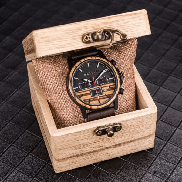 Luxury Quartz Wood Watch
