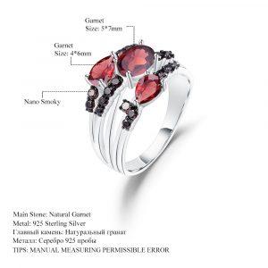 Garnet Wedding Band Rings