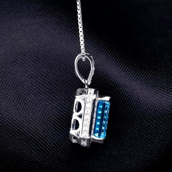 Blue Topaz Wedding Jewelry Set