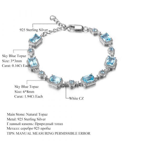 Skyblue Topaz Gemstone Bracelets