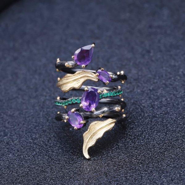 Amethyst Gemstone Finger Ring