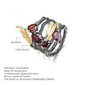 Garnet Gemstone Finger Ring