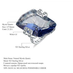 Lolite Blue Mystic Rings