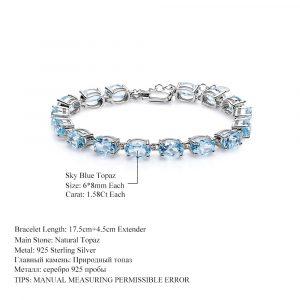 Sky-blue Topaz Tennis Bracelet