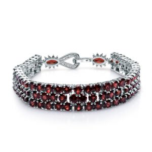 Red Garnet Gemstone Bracelet