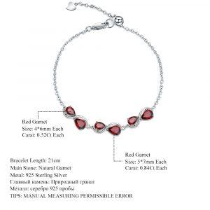 Garnet Chain Link Bracelet
