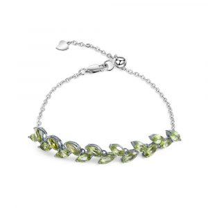 Marquise Peridot Gemstone Bracelet