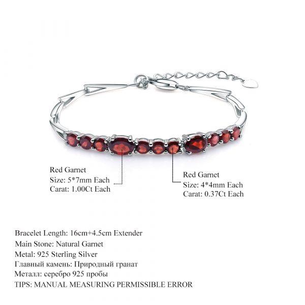 Red Garnet Tennis Bracelet