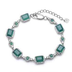 Genuine Green Agate Bracelet