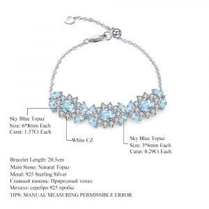 Natural Topaz Flower Bracelet
