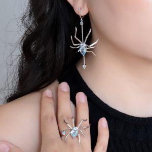 Topaz Gemstone Earrings Ring Set