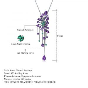 Amethyst Purple Gemstone Pendant