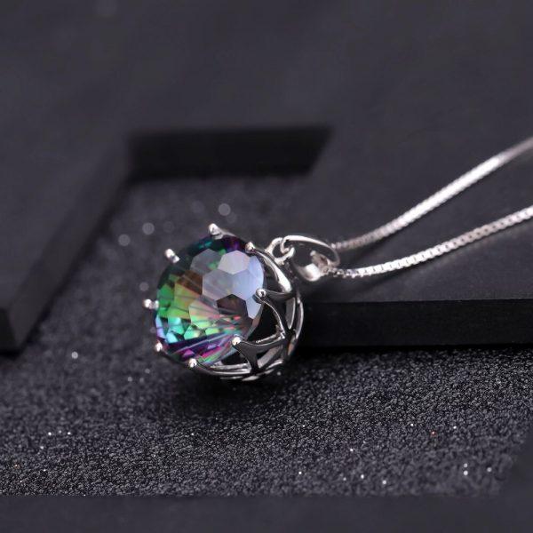 Quartz Round Gemstone Pendant