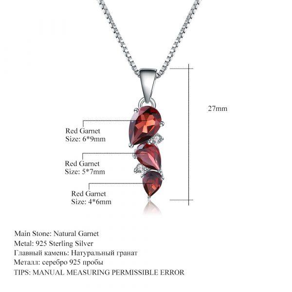 Natural Garnet Gemstone Pendant