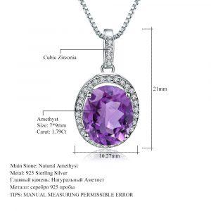 Natural Amethyst Gemstone Pendant
