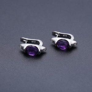 Gemstone Amethyst Ring Earrings