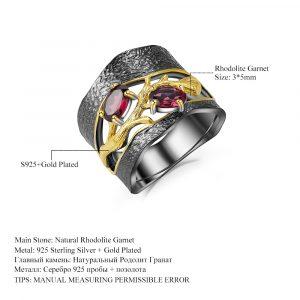 Rhodolite Garnet Gemstones Ring
