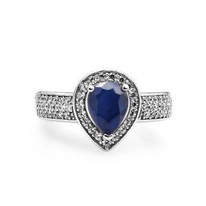 Blue Sapphire Gemstone Jewelry Set