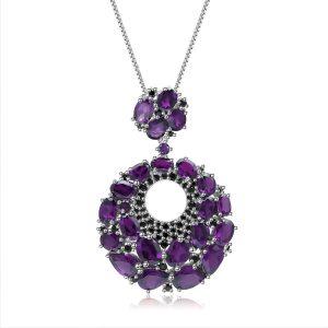 Amethyst Romantic Purple Necklace