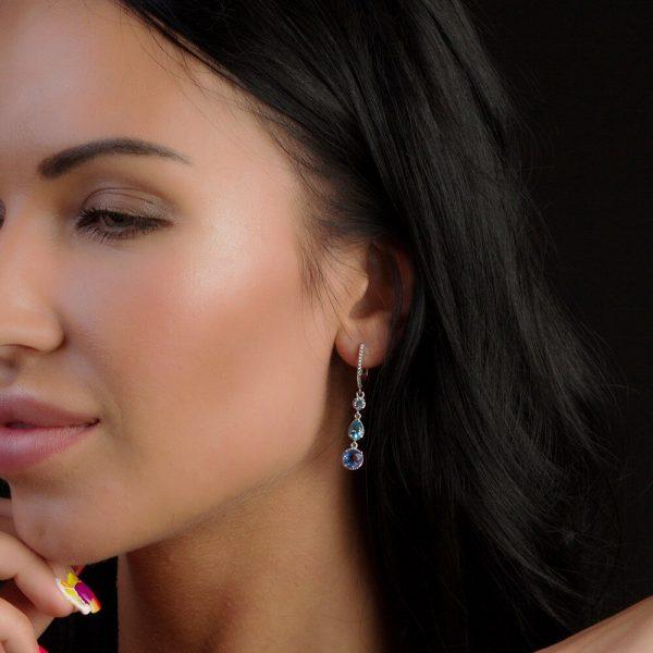 Color-Change Fluorite Drop Earrings