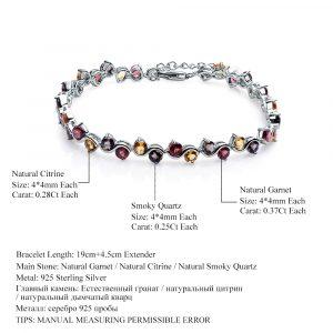 Garnet Citrine Tennis Bracelet