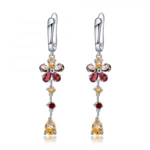 Citrine Gemstone Drop Earrings