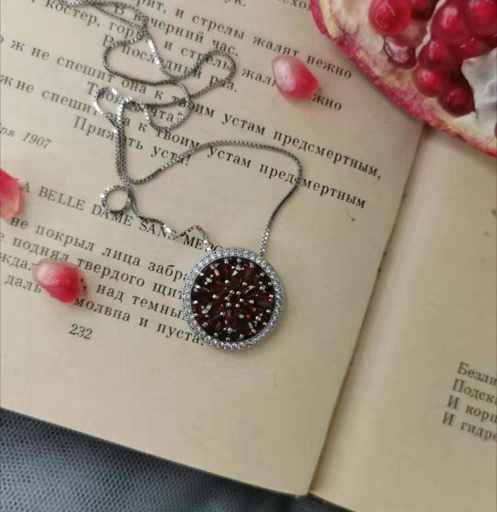 Red Garnet Gemstone Pendant
