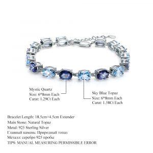Oval Topaz Mystic Bracelet