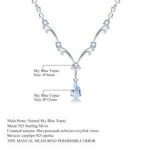 Skyblue Topaz Gemstone Pendant