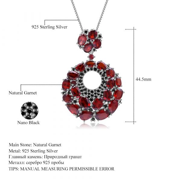 Natural Garnet Gemstone Pendants