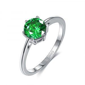 Emerald Color CZ Finger Rings