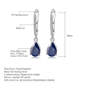 Sapphire Gemstone Drop Earrings