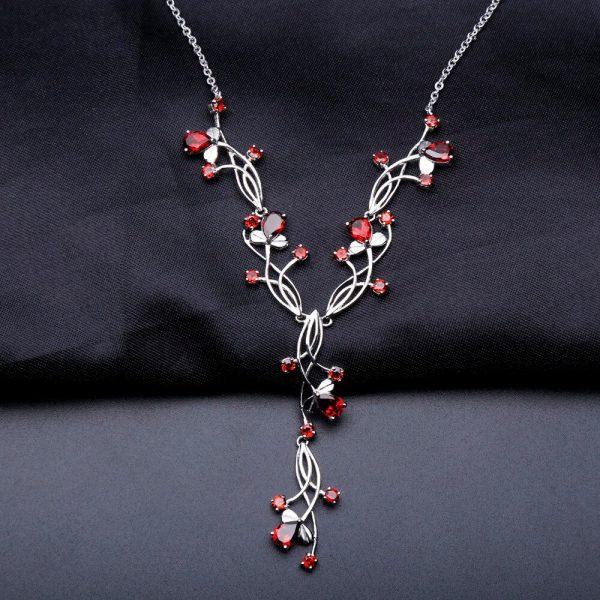 Red Garnet Gemstone Necklaces