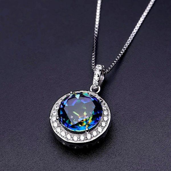 Blueish Mystic Gemstone Pendant