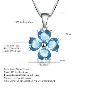 Blue Topaz Gemstone Pendant