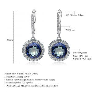 Natural Blueish Mystic Earrings