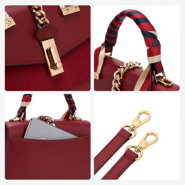 Trendy Ladies' Leather Handbag