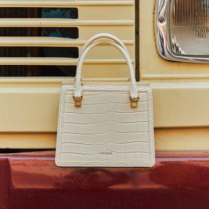 Female Commuter Handbag Crocodile