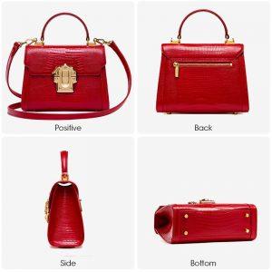 Designer Serpentine Lock Handbag
