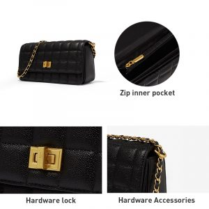 Trendy Casual Double Chain Bag