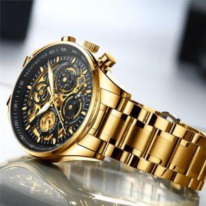 Luxury Golden Skeleton Watch