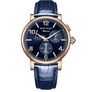 Leather Strap Automatic Watch