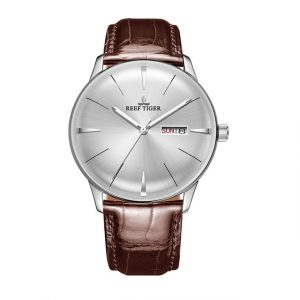 Casual Genuine Leather Strap Watch