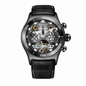 Luminous Skeleton Dial Sport Watch