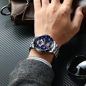 Men's Skeleton Waterproof Watch